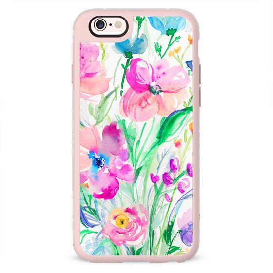 Wildflower Watercolor Flowers Iphone Case