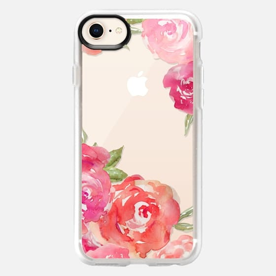 Watercolor Roses - Snap Case