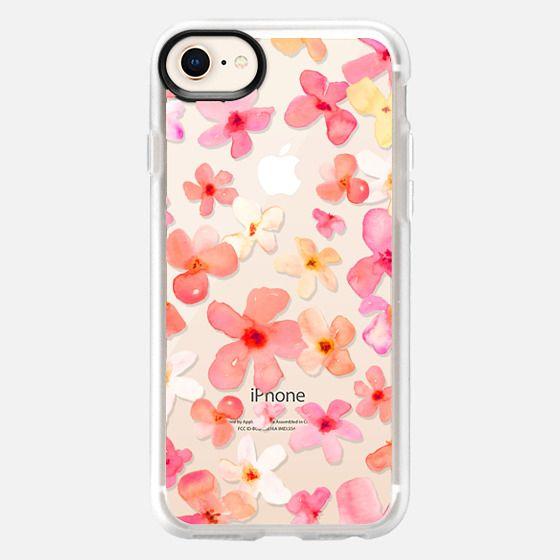 Spring Has Sprung Watercolor Floral Design - Snap Case