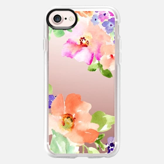 Tropical Burst Watercolor Flowers - Classic Grip Case