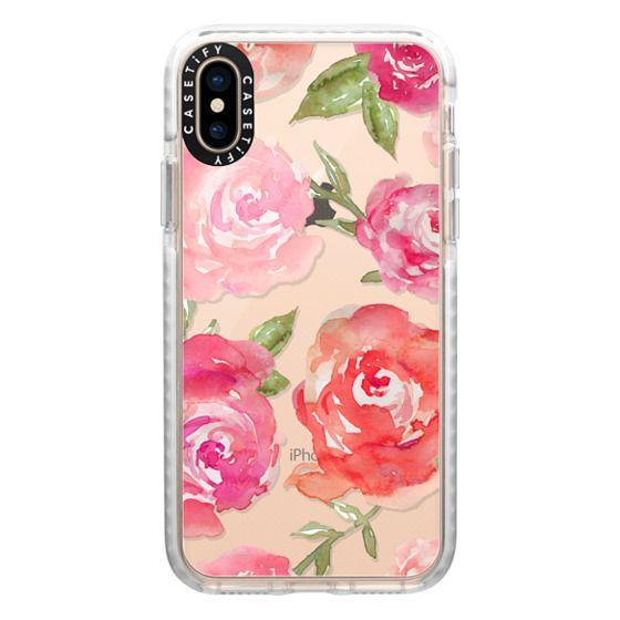iPhone XS Cases - Watercolor Peonies