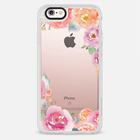 Pretty Watercolor Flowers Painted Design - New Standard Case