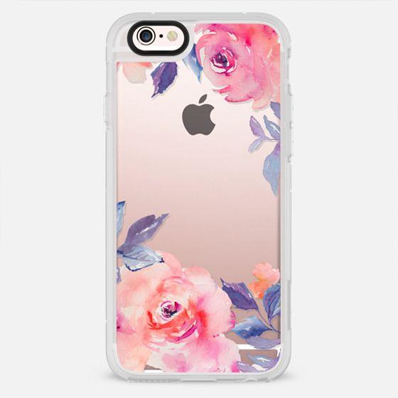 Cute Watercolor Flowers Purples + Blues - New Standard Case