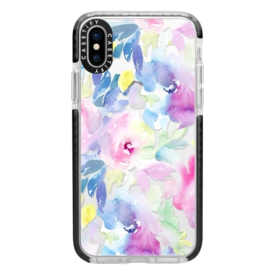 iPhone X Cases - Wild n Loose Watercolor Floral