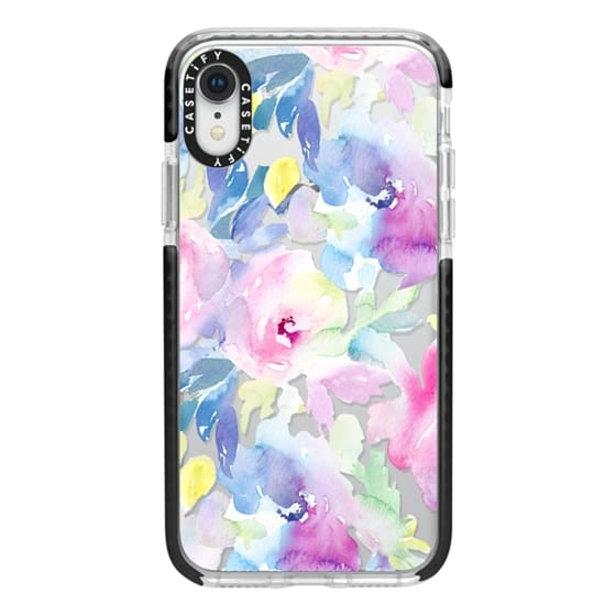 iPhone XR Cases - Wild n Loose Watercolor Floral