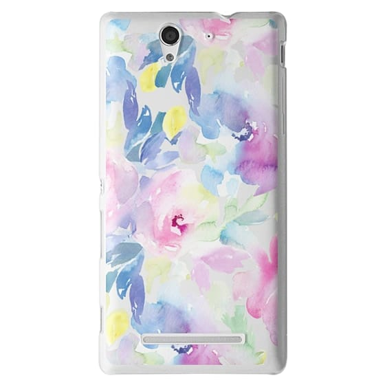 Sony C3 Cases - Wild n Loose Watercolor Floral