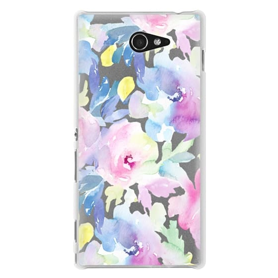 Sony M2 Cases - Wild n Loose Watercolor Floral