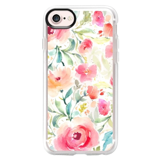 iPhone 7 Cases - Cute Speckled Watercolor Floral