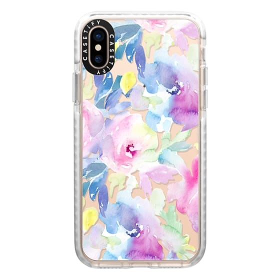 iPhone XS Cases - Wild n Loose Watercolor Floral