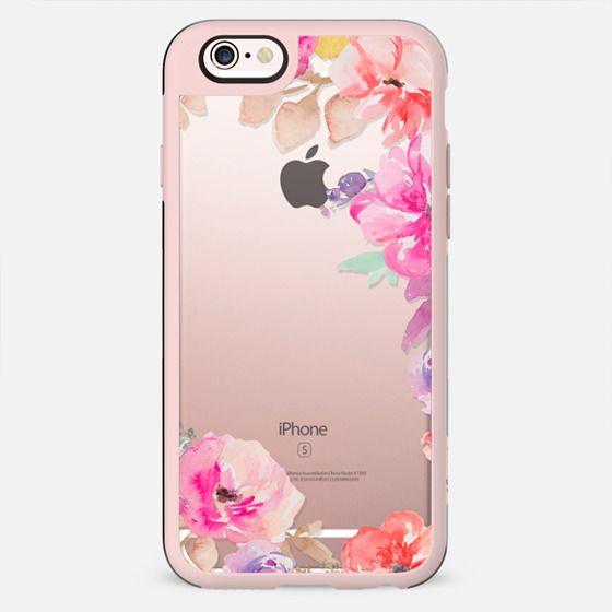 Cute Watercolor Flowers Iphone Case