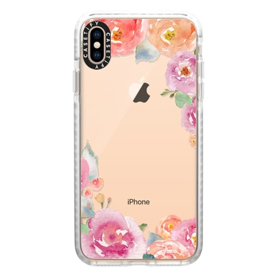 Pretty Watercolor Flowers Painted Design