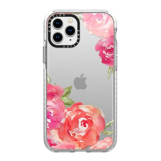 iPhone 11 Pro Cases - Pretty Pink Peonies Watercolor Peony Flowers