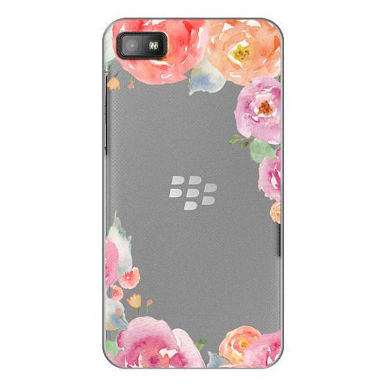 Blackberry Z10 Cases - Pretty Watercolor Flowers Painted Design
