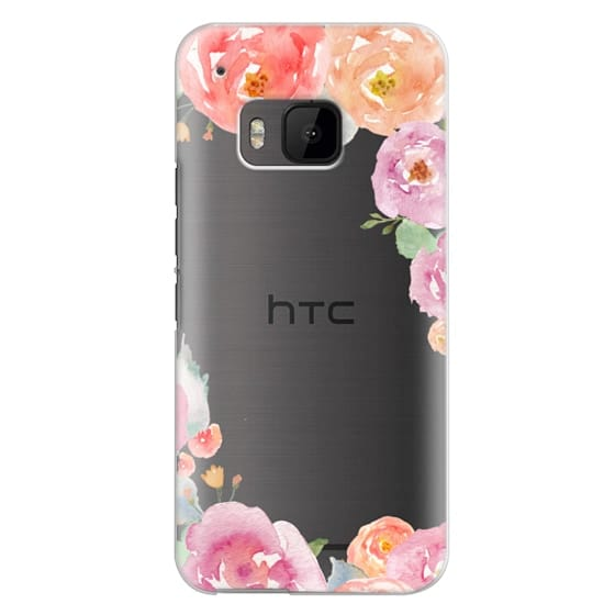 Htc One M9 Cases - Pretty Watercolor Flowers Painted Design