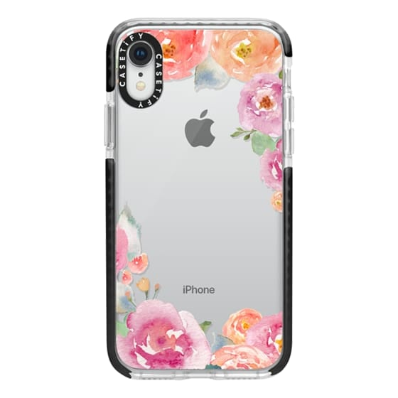 iPhone XR Cases - Pretty Watercolor Flowers Painted Design