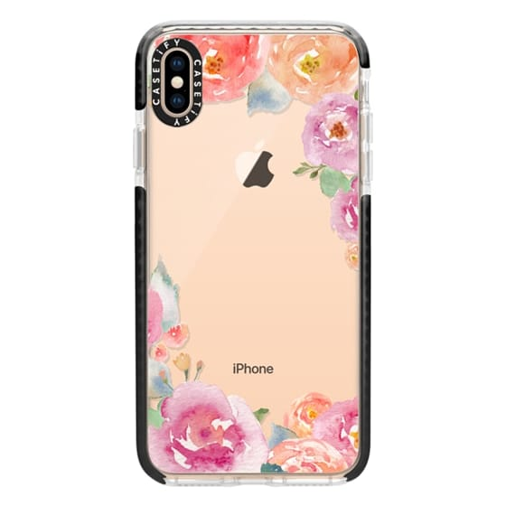 iPhone XS Max Cases - Pretty Watercolor Flowers Painted Design