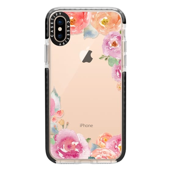 iPhone XS Cases - Pretty Watercolor Flowers Painted Design