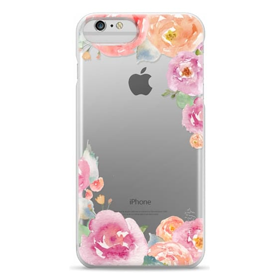 iPhone 6 Plus Cases - Pretty Watercolor Flowers Painted Design