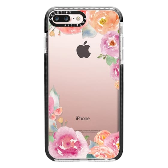 iPhone 7 Plus Cases - Pretty Watercolor Flowers Painted Design