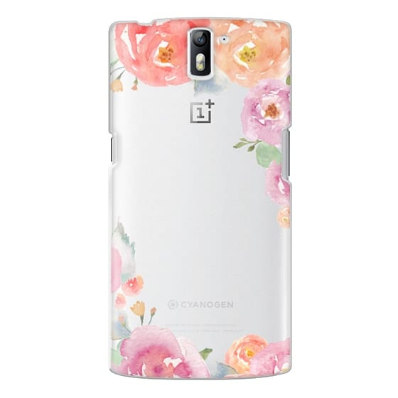 One Plus One Cases - Pretty Watercolor Flowers Painted Design