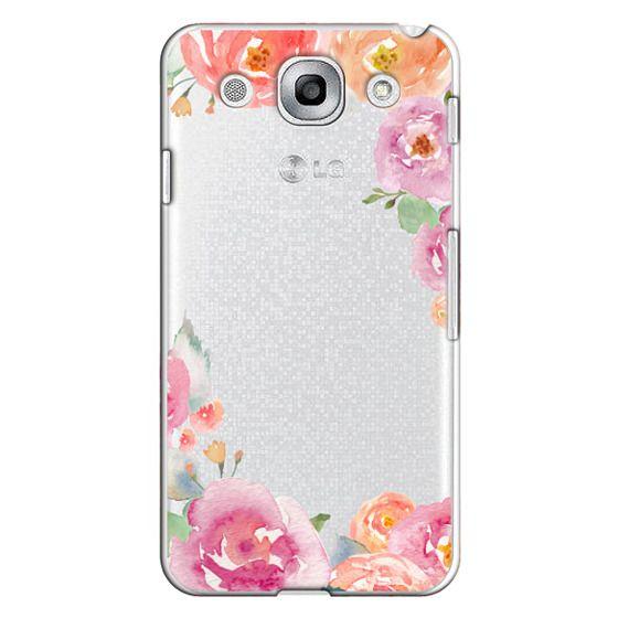 Optimus G Pro Cases - Pretty Watercolor Flowers Painted Design