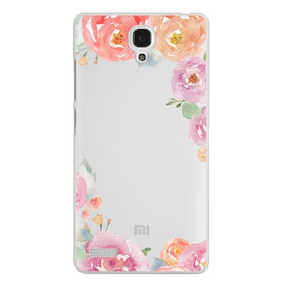 Redmi Note Cases - Pretty Watercolor Flowers Painted Design