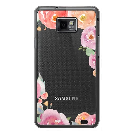 Samsung Galaxy S2 Cases - Pretty Watercolor Flowers Painted Design