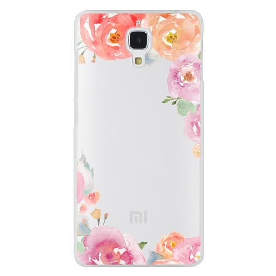 Xiaomi 4 Cases - Pretty Watercolor Flowers Painted Design