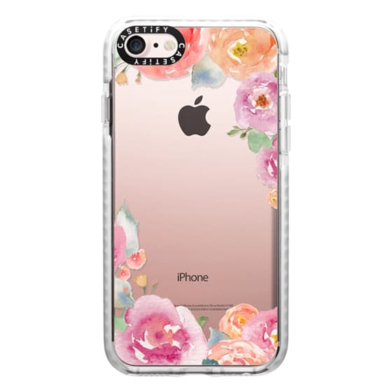 iPhone 7 Cases - Pretty Watercolor Flowers Painted Design