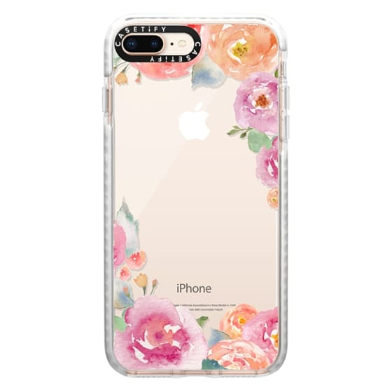 iPhone 8 Plus Cases - Pretty Watercolor Flowers Painted Design