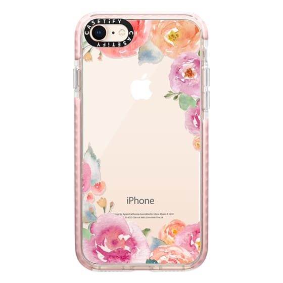 iPhone 8 Cases - Pretty Watercolor Flowers Painted Design