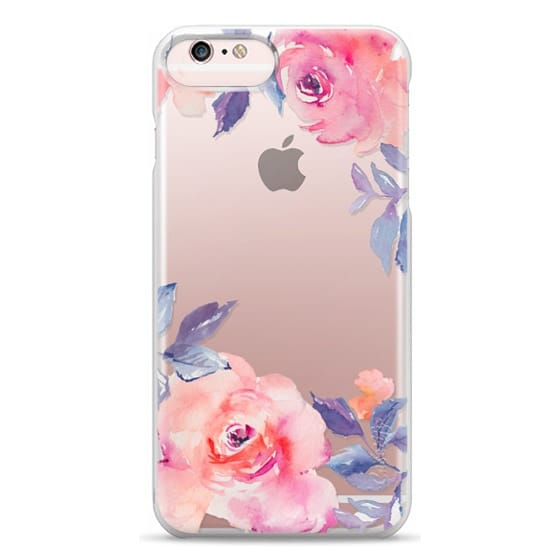 iPhone 6s Plus Cases - Cute Watercolor Flowers Purples + Blues