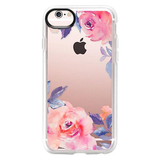 iPhone 6s Cases - Cute Watercolor Flowers Purples + Blues