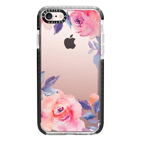 iPhone 7 Cases - Cute Watercolor Flowers Purples + Blues