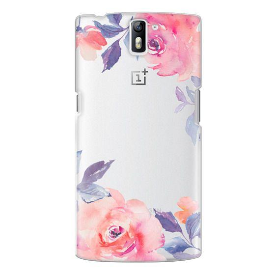 One Plus One Cases - Cute Watercolor Flowers Purples + Blues