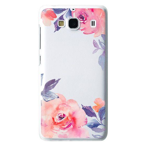 Redmi 2 Cases - Cute Watercolor Flowers Purples + Blues