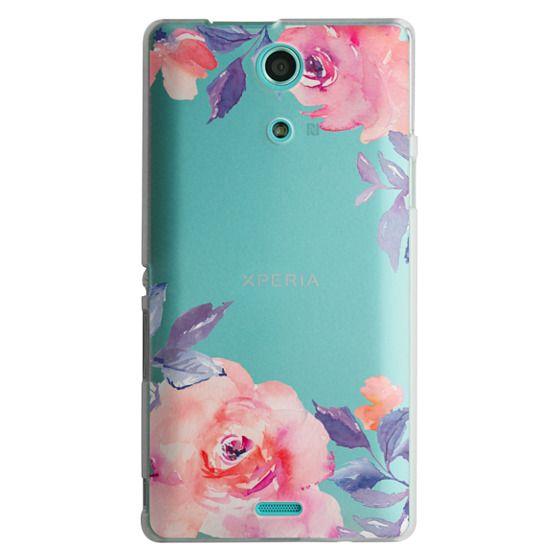 Sony Zr Cases - Cute Watercolor Flowers Purples + Blues