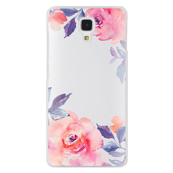 Xiaomi 4 Cases - Cute Watercolor Flowers Purples + Blues