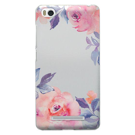 Xiaomi 4i Cases - Cute Watercolor Flowers Purples + Blues