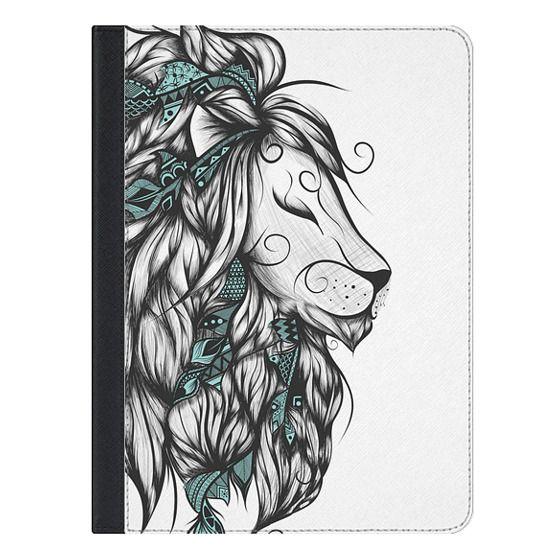 9.7-inch iPad Covers - Poetic Lion Turquoise