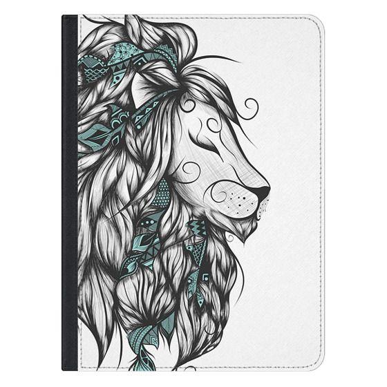 12.9-inch iPad Pro Covers - Poetic Lion Turquoise
