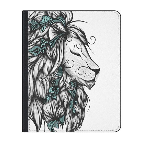 12.9-inch iPad Pro (2018) Covers - Poetic Lion Turquoise