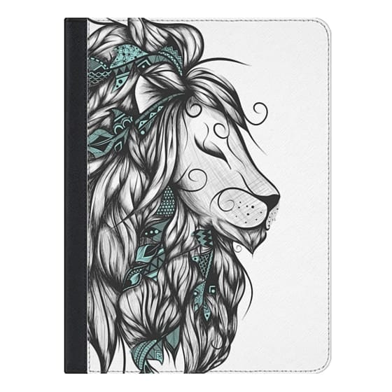 10.5-inch iPad Air (2019) Covers - Poetic Lion Turquoise