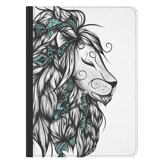 12.9-inch iPad Pro Covers - Poetic Lion Turquoise