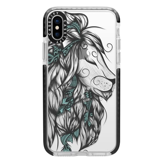 iPhone X Cases - Poetic Lion Turquoise