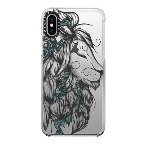 iPhone X Cases - Poetic Lion Turquoise