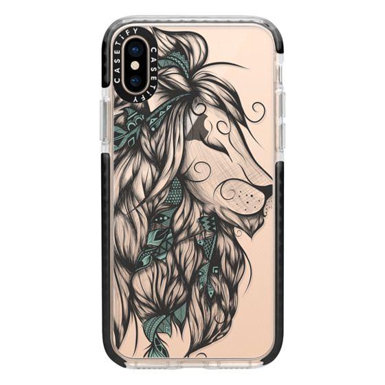 iPhone XS Cases - Poetic Lion Turquoise