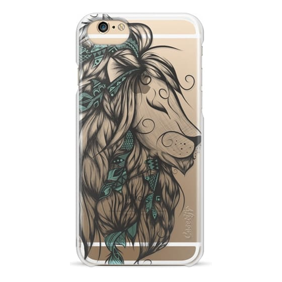 iPhone 4 Cases - Poetic Lion Turquoise