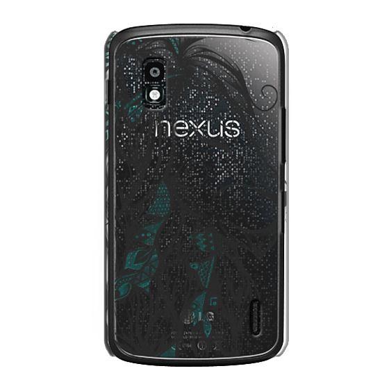 Nexus 4 Cases - Poetic Lion Turquoise
