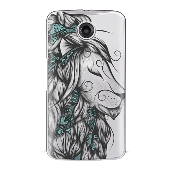 Nexus 6 Cases - Poetic Lion Turquoise